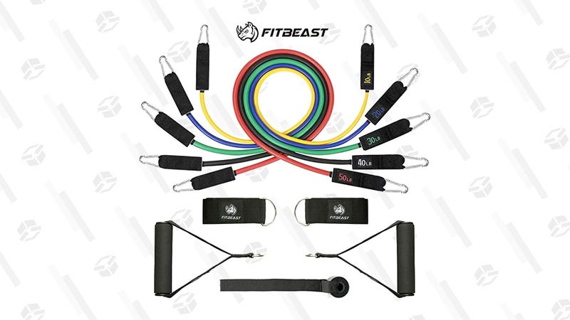 FitBeast 11PC Resistance Bands| $11 | Amazon | Promo code Z8U4HQHB