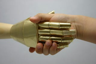 Illustration for article titled New electronic skin gives robots the sense of touch