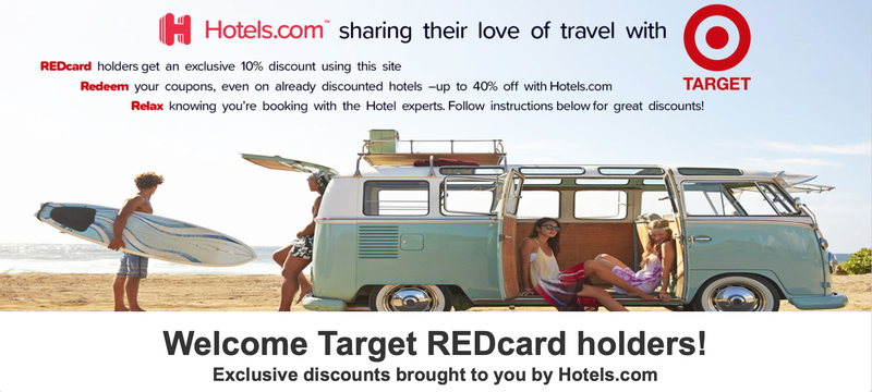 Target REDCard Holders Can Save 10% At Hotels.com Through November
