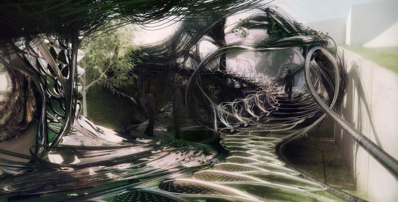 Illustration for article titled Estructuras de aspecto alienígena: una idea para la casa del futuro