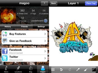 Illustration for article titled Augmented Reality Graffiti Hits FourSquare in ARstreets iPhone App