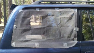 Camp in Your Car with Magnetic Window Screens