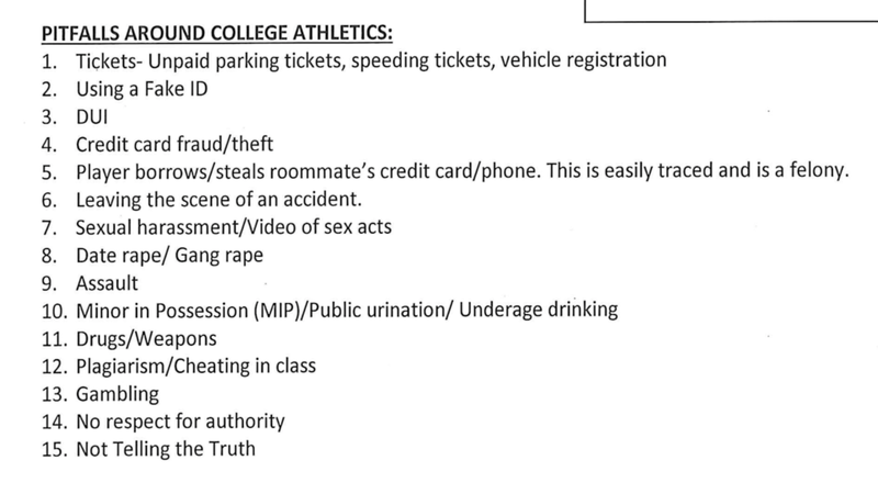 "Illustration for article titled List Of ""Pitfalls Around College Athletics"" At Minnesota Included Parking Tickets, Gang Rape"