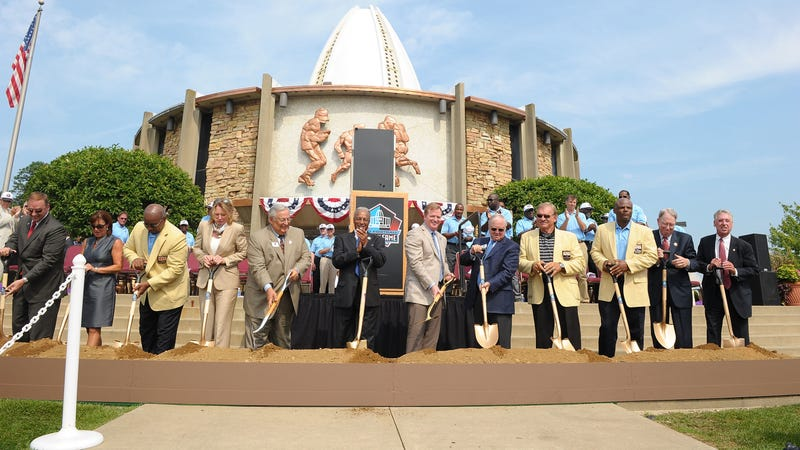 A groundbreaking ceremony at the Pro Football Hall Of Fame in 2011