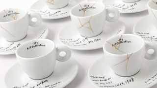 Illustration for article titled Yoko Ono's Cup and Saucer Collection for Illy Is Kind of Amazing