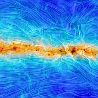Illustration for article titled This Incredible Image Reveals the Shape of Our Galaxy's Magnetic Field
