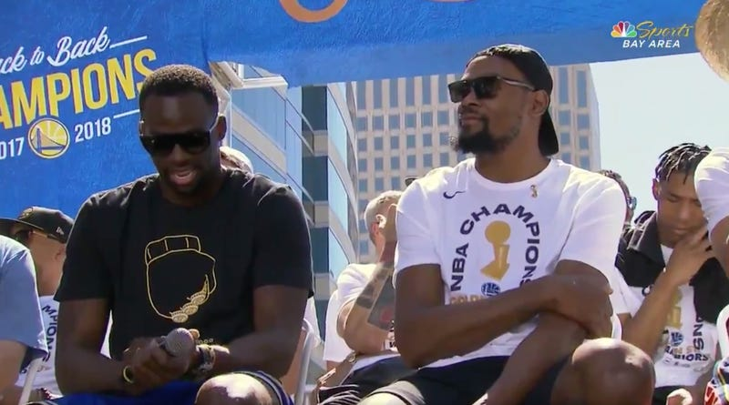 e6c68d7922a Draymond Green Has Once Again Mocked LeBron James With His Championship  Parade T-Shirt