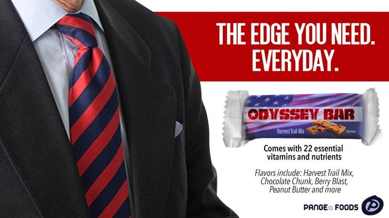 Illustration for article titled Finally! An Energy Bar For Former Presidents!