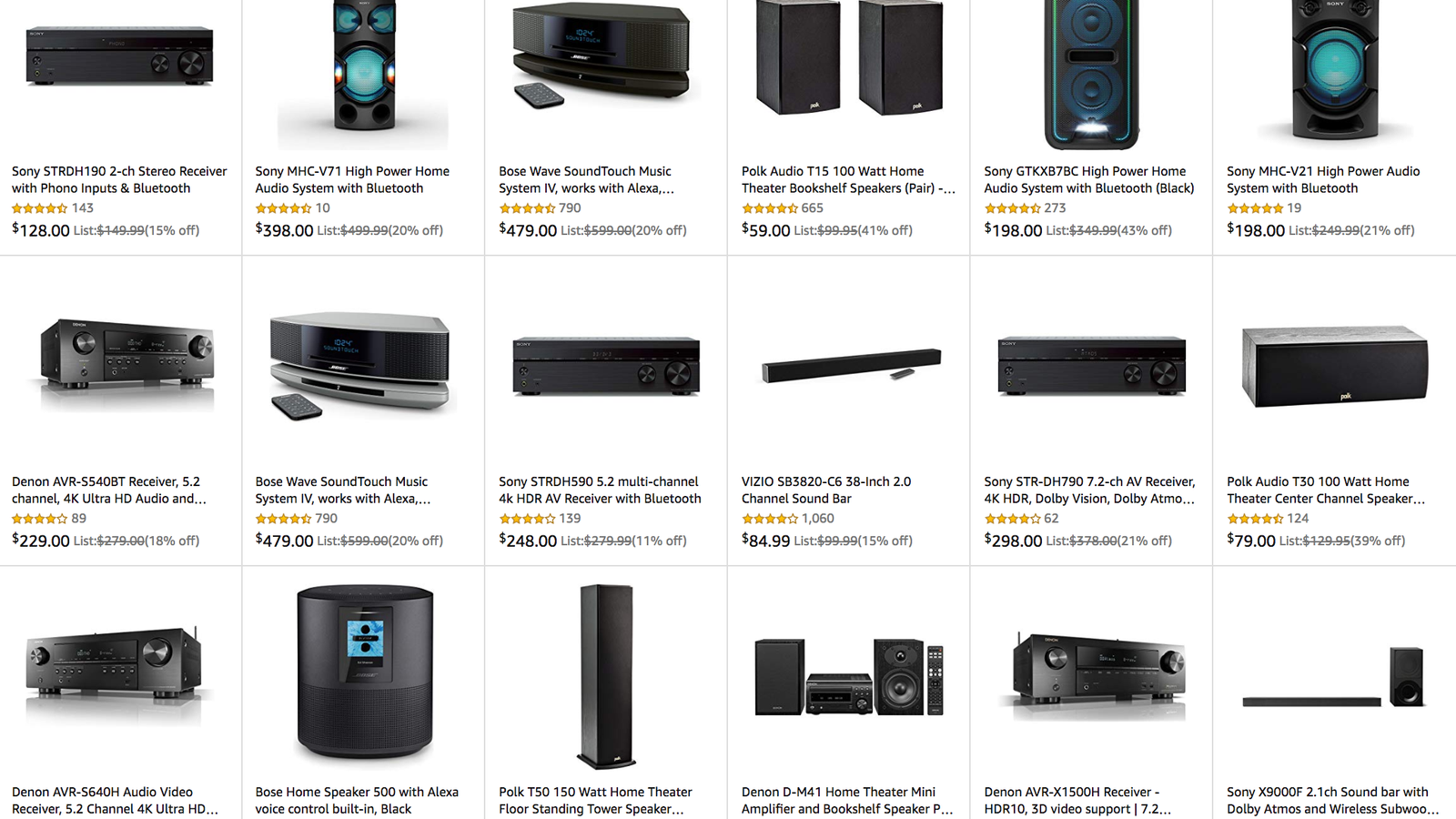 Save on Sound Systems From Sony, Bose and More