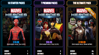 Illustration for article titled You May Spend $199 to Unlock Everything in Marvel Heroes Before the Game Even Launches