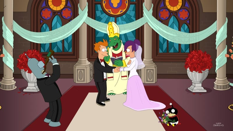 Illustration for article titled Futurama's final episode makes me a Fry and Leela shipper at last
