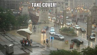 Illustration for article titled Chicago's Giant Marilyn Monroe Statue Is a Giant Upskirt Umbrella