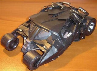 Illustration for article titled Paper-craft Batmobile Recreates Tumbler From The Dark Knight