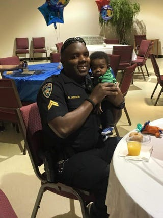 Montrell Jackson and his infant sonFacebook