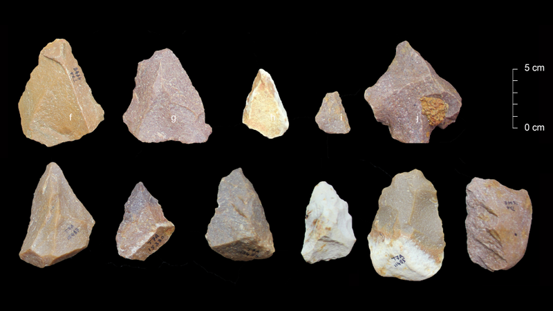 Middle Palaeolithic tools found at Attirampakkam. (Sharma Centre for Heritage Education, India)
