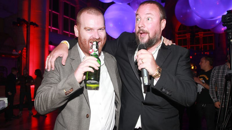 Andrew Creighton, left, pictured with Vice founder Shane Smith (Photo: Astrid Stawiarz/Getty Images)