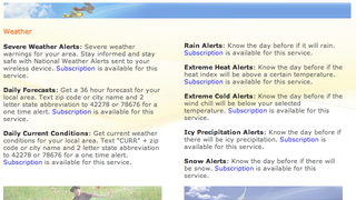 Illustration for article titled Weather.com SMS Alerts Give You the Jump on Snow or Rain