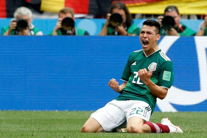 Hirving Lozano marcó el gol de la victoria de México contra Alemania en el Mundial de Rusia