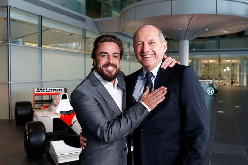 Illustration for article titled Jenson Button and Fernando Alonso to Pilot the 2015 McLaren