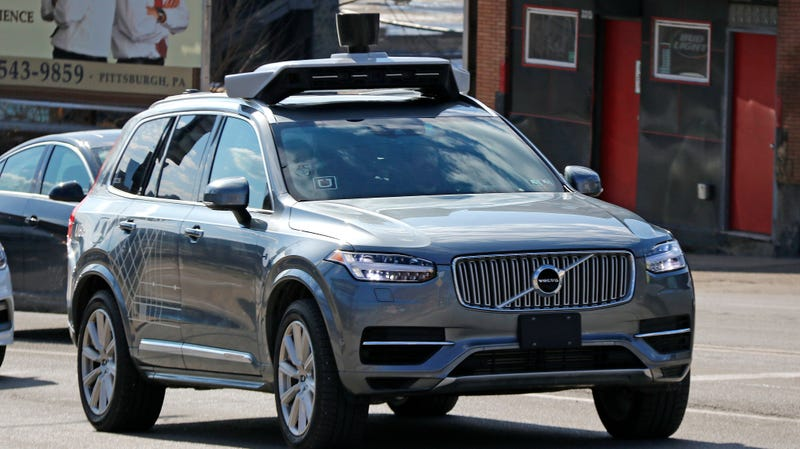 An Uber-owned Volvo XC90