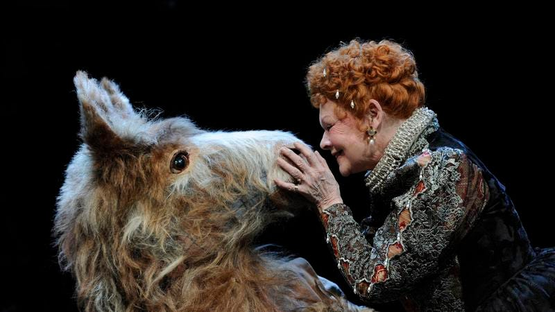 Judy Dench and Oliver Chris star in a stage production of A Midsummer Night's Dream, which is pretty freaky even without the horror elements (Photo: Robbie Jack/Corbis/Getty Images)