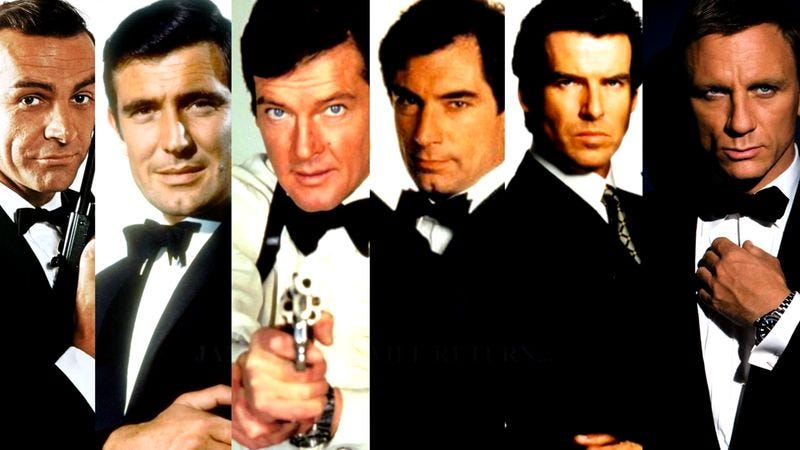 Illustration for article titled We Got This! determines which Bond is the best Bond