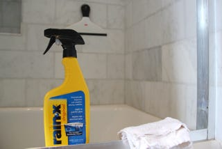 Illustration for article titled Put Rain-X on your Shower Doors to Make Water Bounce Right Off