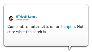 Illustration for article titled Someone in Tripoli Keeps Trying to Turn the Internet Back On