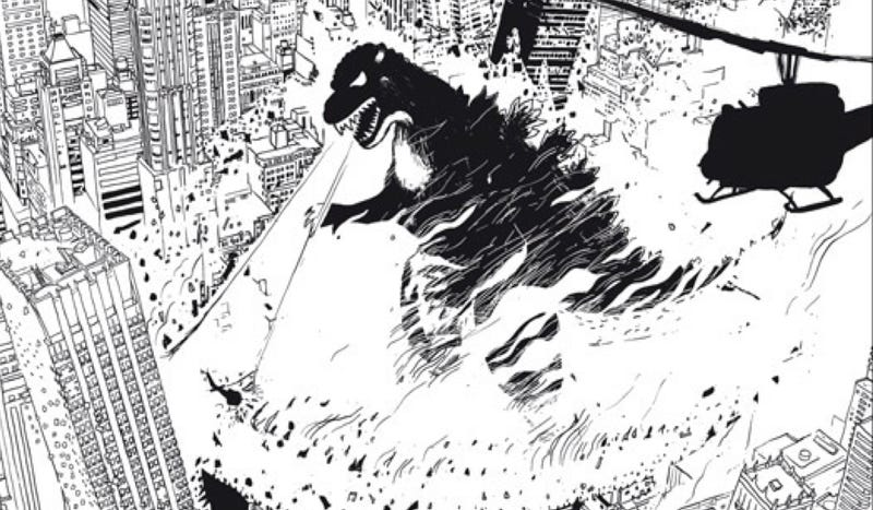 Illustration for article titled Celebrate the destruction of New York City with this crazy giant monster art