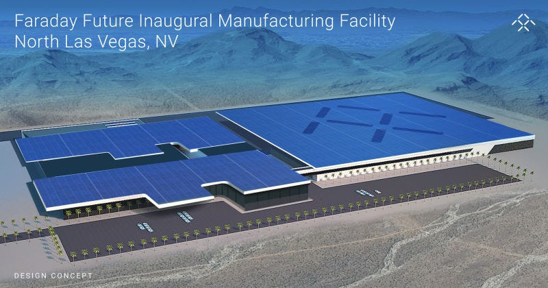 Illustration for article titled Faraday Future Will Finally Break Ground On Its Overdue Billion Dollar Factory