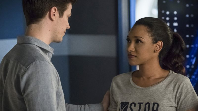 Sadly not an image of Barry (Grant Gustin) staging an intervention when Iris (Candice Patton) says she wants to blog again.