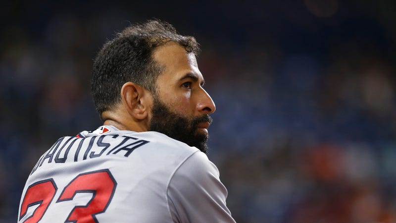"""Illustration for article titled José Bautista Shifts Into The """"Too Crummy Even To Play Third Base For The Atlanta Braves"""" Stage Of His Career"""