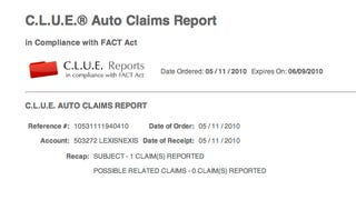 Illustration for article titled Check Your C.L.U.E. Report for Insurance Errors That Could Raise Your Rates