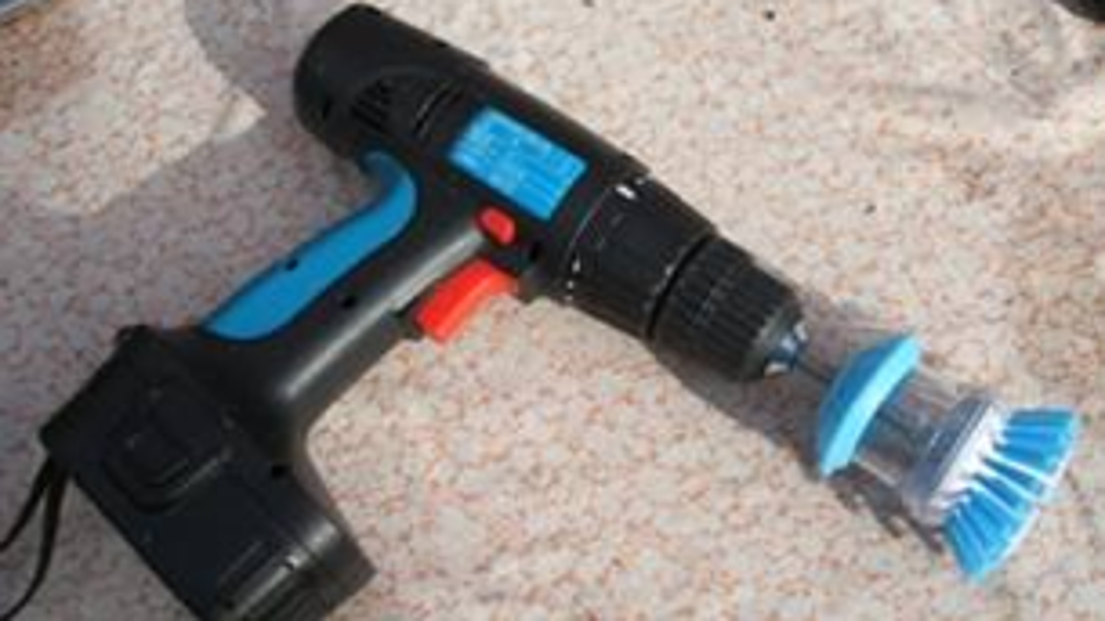 the power drill brush means serious cleaning