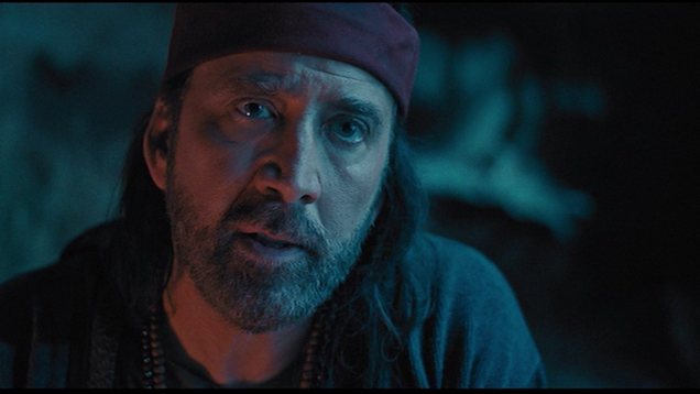 Finally: Nicolas Cage picks up a sword, goes Full Cage on some martial-arts aliens