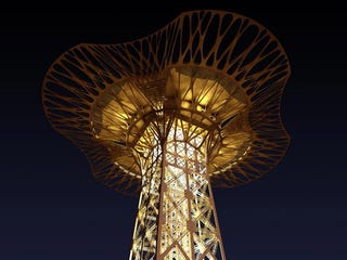 Illustration for article titled Eiffel Tower Getting Huge Observation Deck Made of Kevlar Webbing