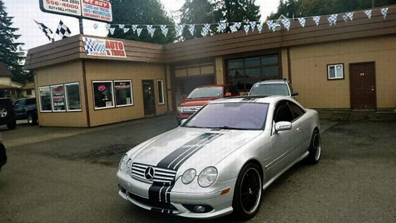 for 7 995 could this 2004 mercedes cl55 amg be a total. Black Bedroom Furniture Sets. Home Design Ideas