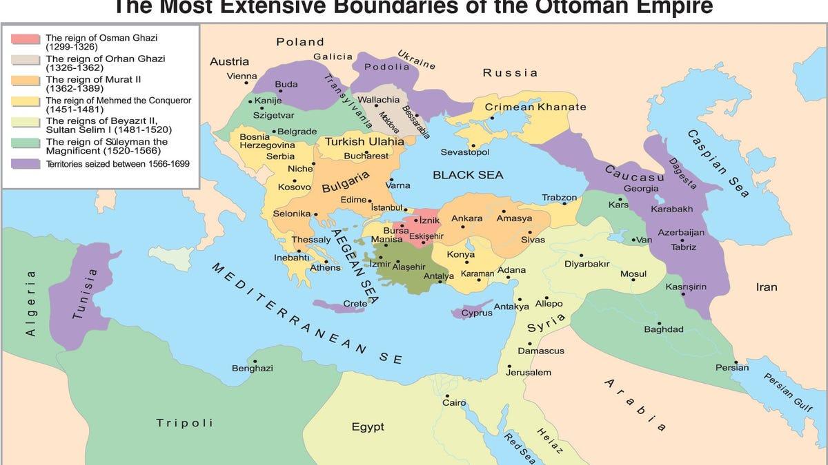 Maps of Vast Empires That No Longer Exist