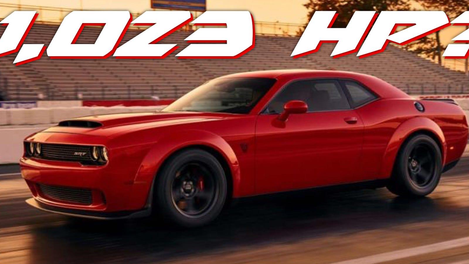 Progressive Dodge >> Crazy Rumors Say The 2018 Dodge Challenger SRT Demon Has Up To 1023 Horsepower