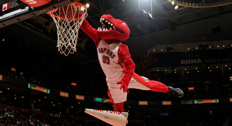 Illustration for article titled Raptors' Mascot Tears Achilles, Is Out For Season
