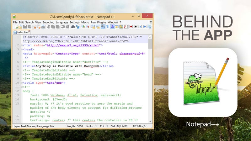 Illustration for article titled Behind the App: The Story of Notepad++