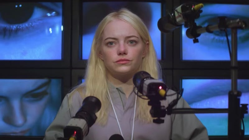 Emma Stone is looking for help, and finding love, in Maniac.