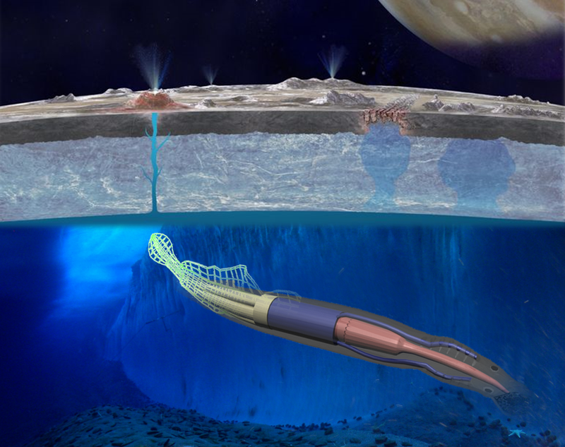 Illustration for article titled NASA Is Considering The Use Of Soft Robotic Squids To Explore Europa