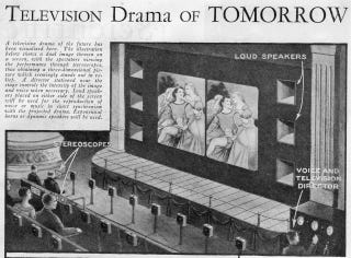 Illustration for article titled This Was the 3D-TV Theater of the Future Before TV Even Existed