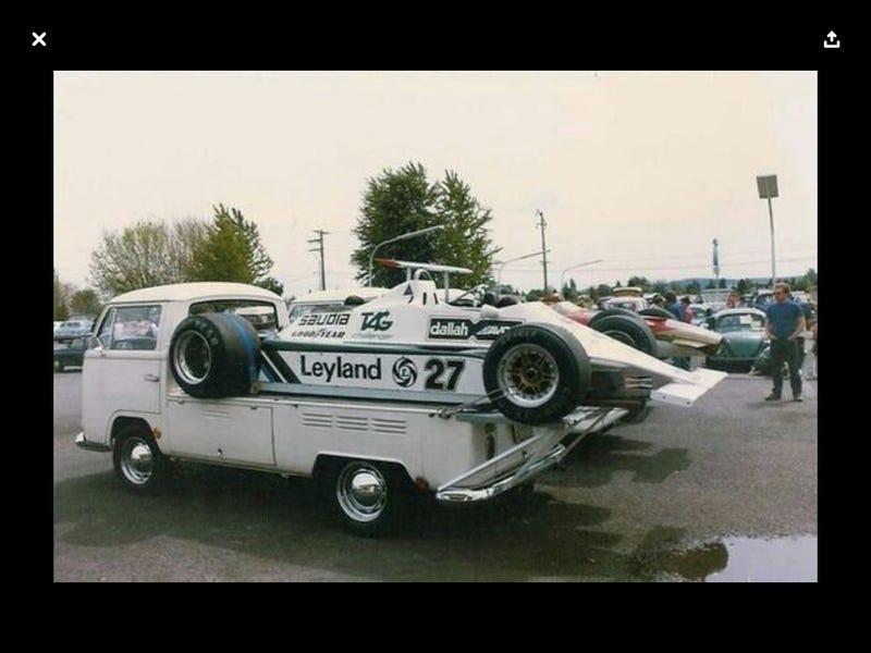 Illustration for article titled F1 Transporter ca. 1980