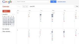 Illustration for article titled Don't Like Google Calendar's New Look? Here's How to Turn It Off