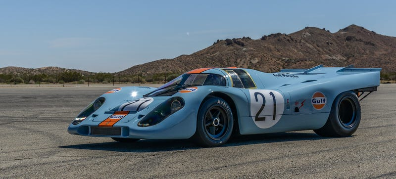 Illustration for article titled This Gulf Porsche 917K Will Make Rennsport Reunion 5 A Loud One