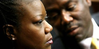 Sybrina Fulton and family attorney Benjamin Crump (Getty Images)