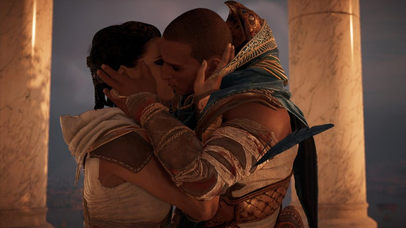 Illustration for article titled Assassin's Creed Origins Is A Sad Game About Marriage