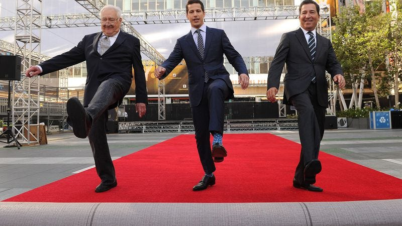 Executive producer Don Mischer, host Andy Samberg, and Television Academy Chairman/CEO Bruce Rosenblum are rolling out the red carpet just for you!